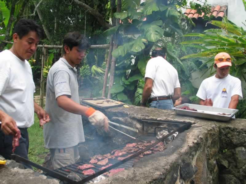Palapa Del Campamento En Tlapacoyan